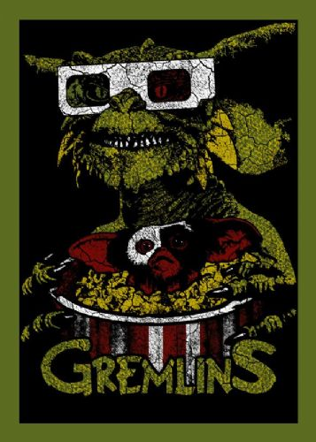 1980's Movie - GREMLINS - MOGWAI POP CORN canvas print - self adhesive poster - photo print